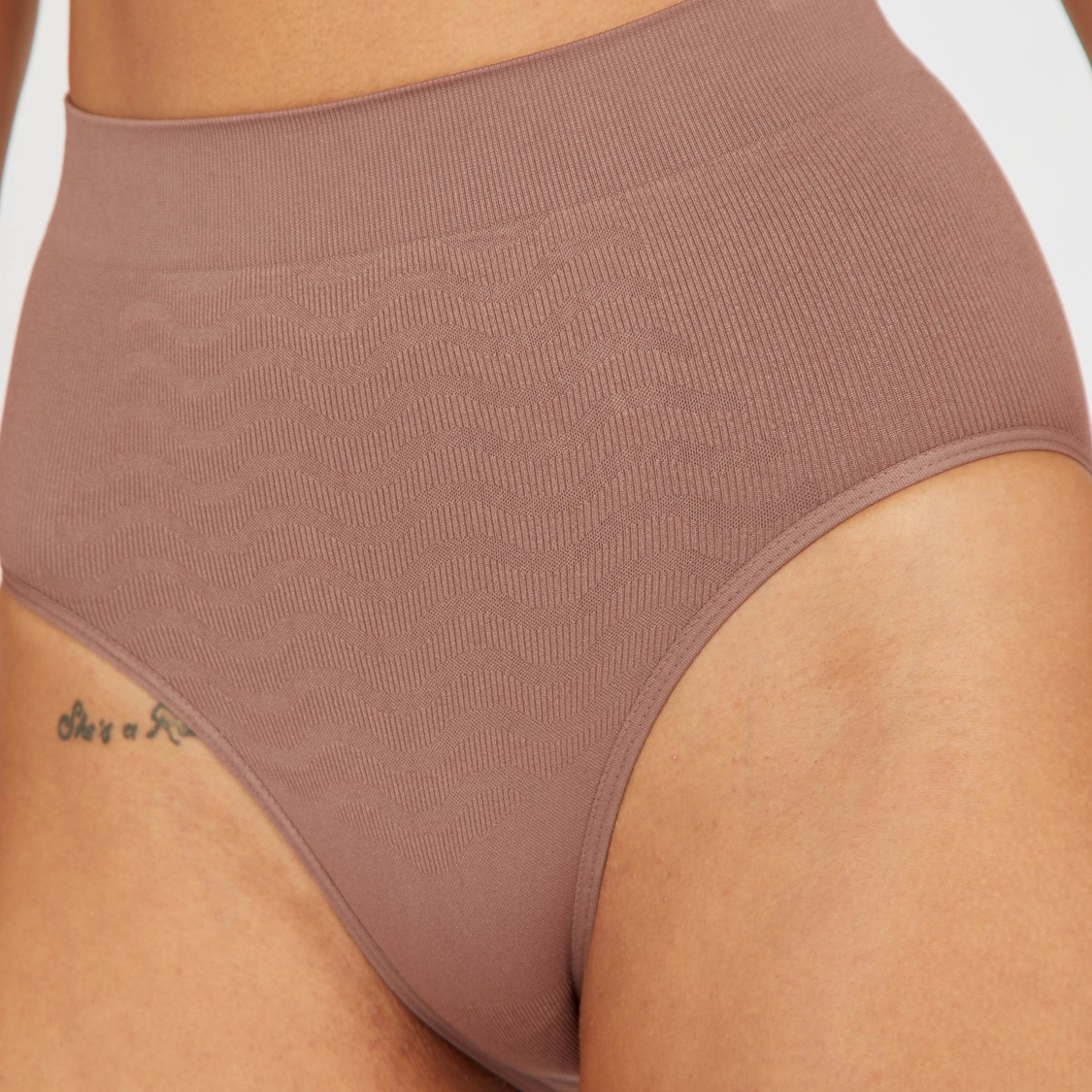 Textured Shaping Briefs with Elasticated Waistband