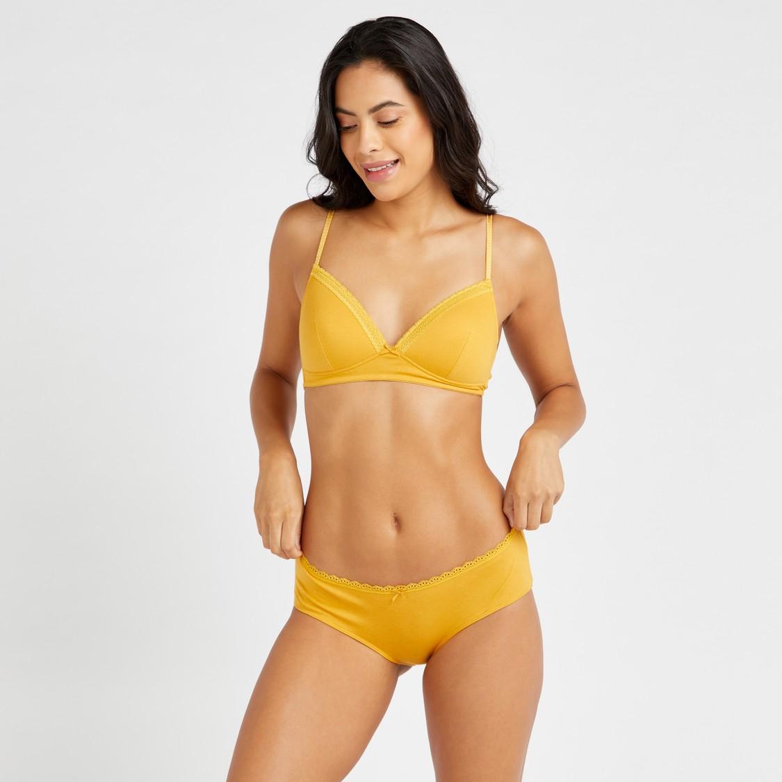 Set of 2 - Assorted Bikini Briefs with Elasticated Waistband