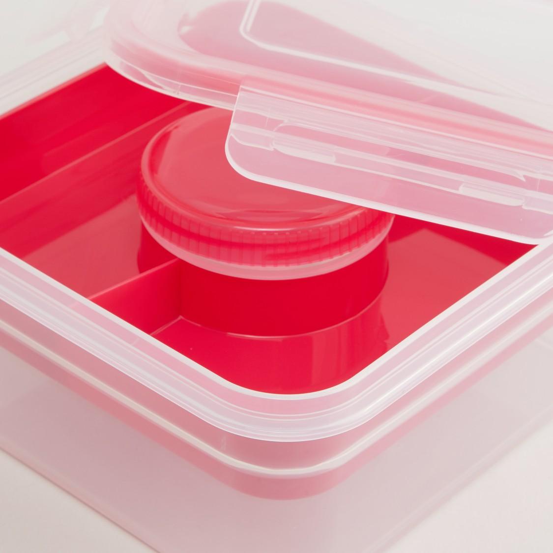 صندوق لحفظ السلاطة بغطاء