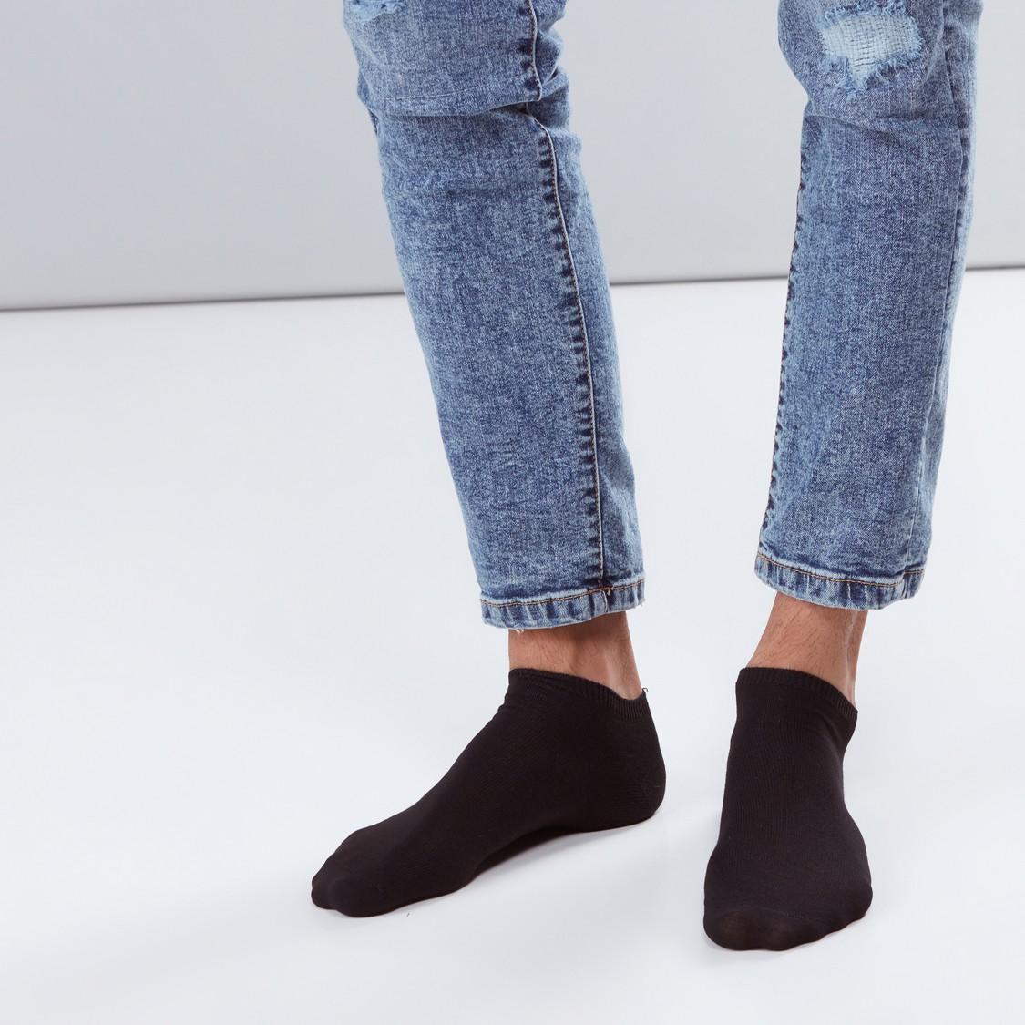 Set of 10 - Plain Ankle Length Socks
