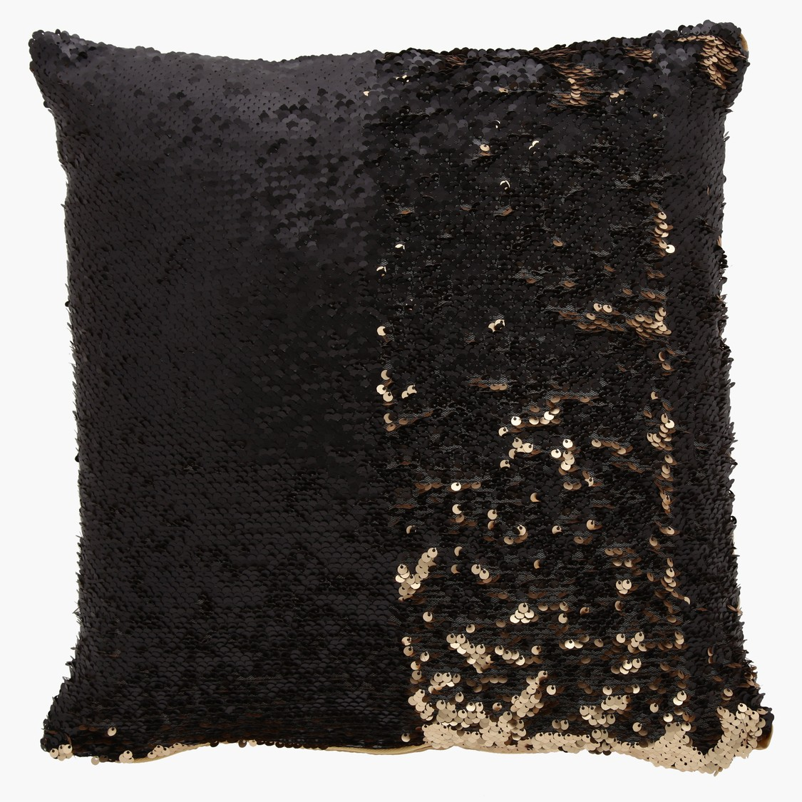 Sequined Square Filled Cushion - 40x40 cms