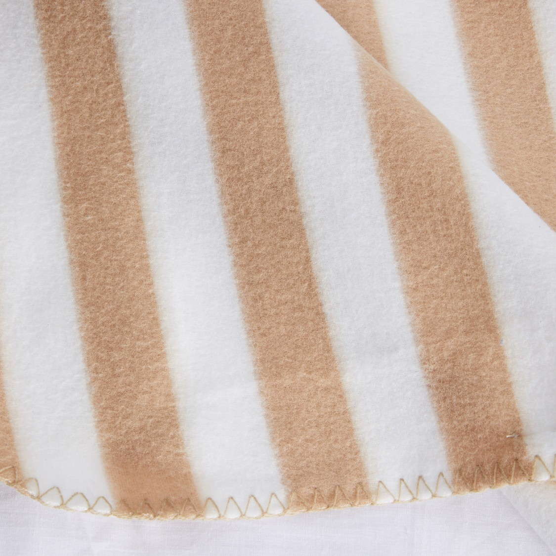 Striped Blanket with Stitch Detail