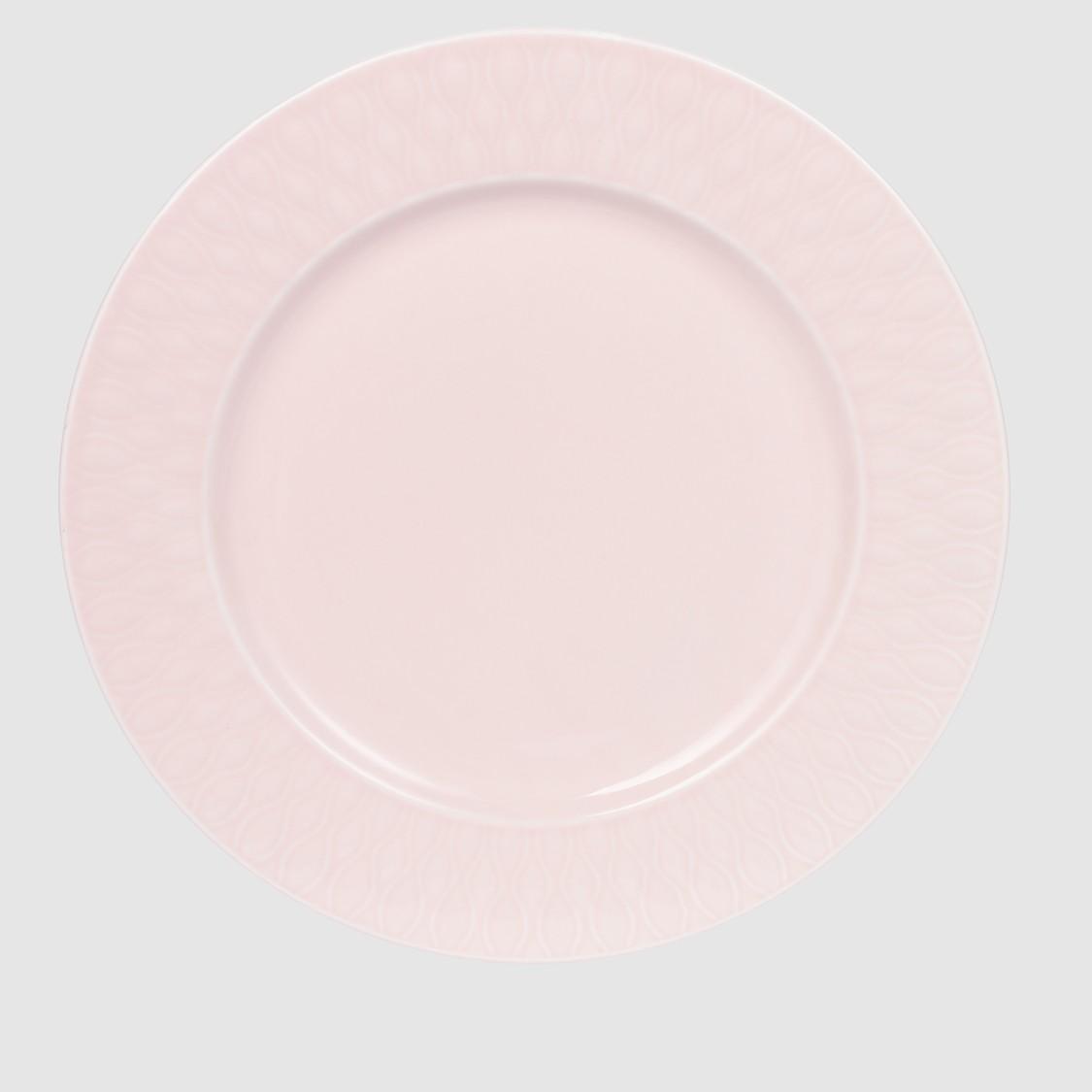 صحن عشاء مستدير بحوّاف بارزة الملمس