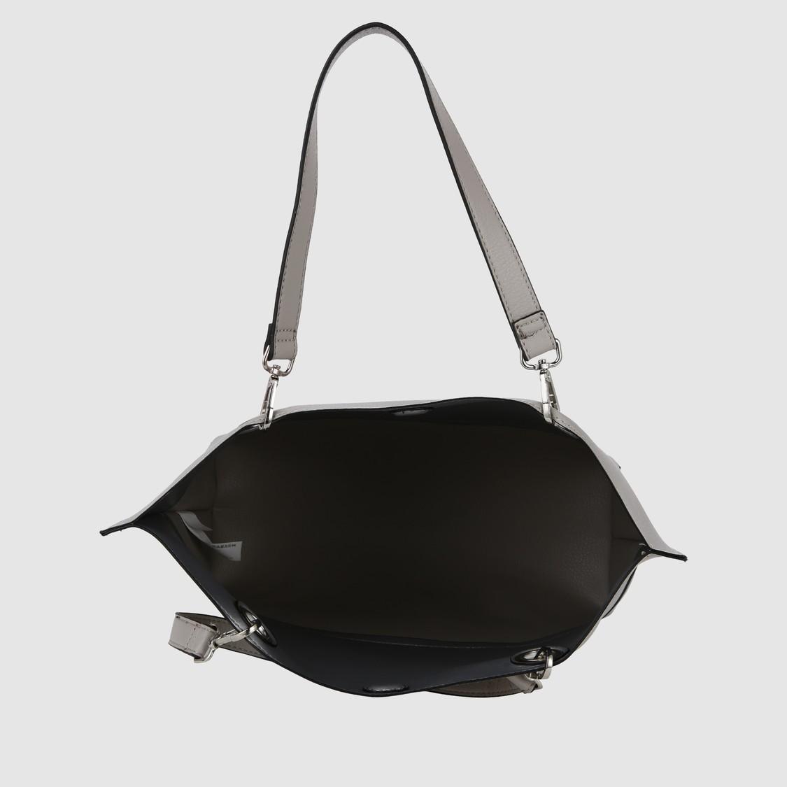 Textured Tote Handbag