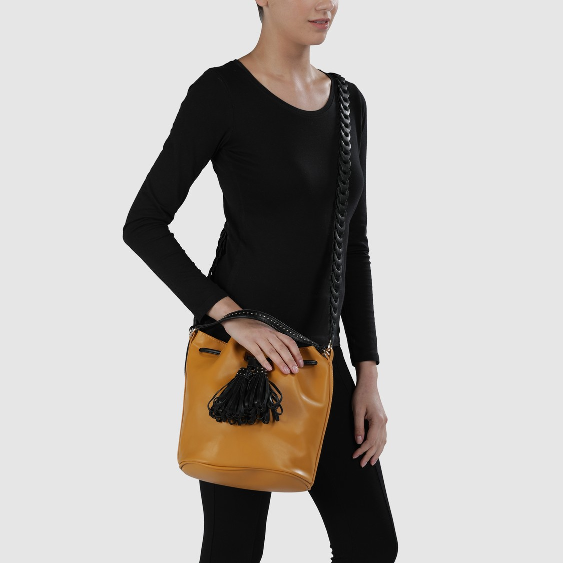 Bucket Bag with Long Strap