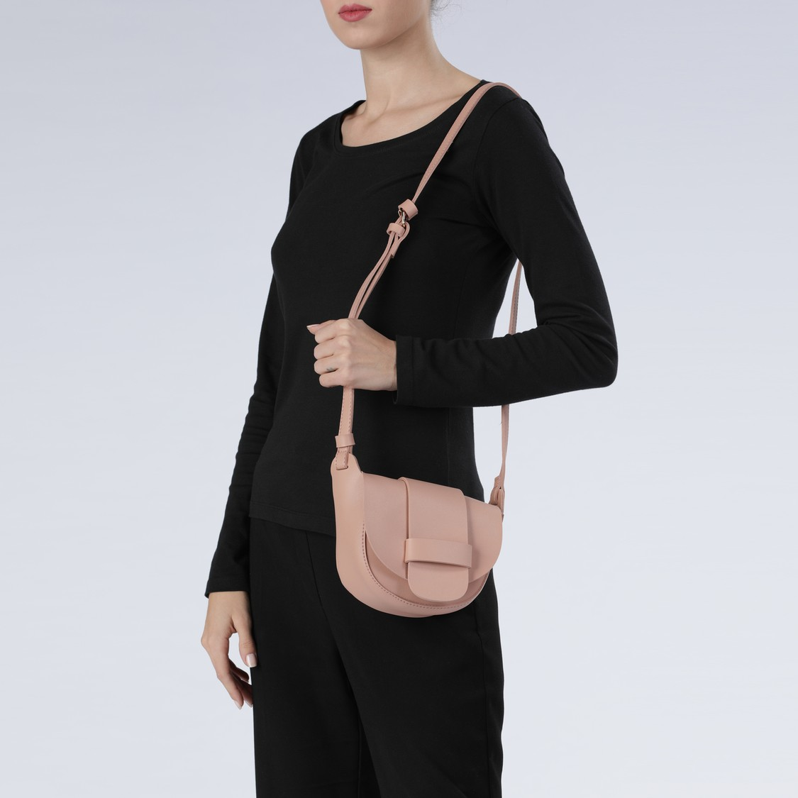 Handbag with Flap and Magnetic Snap Closure