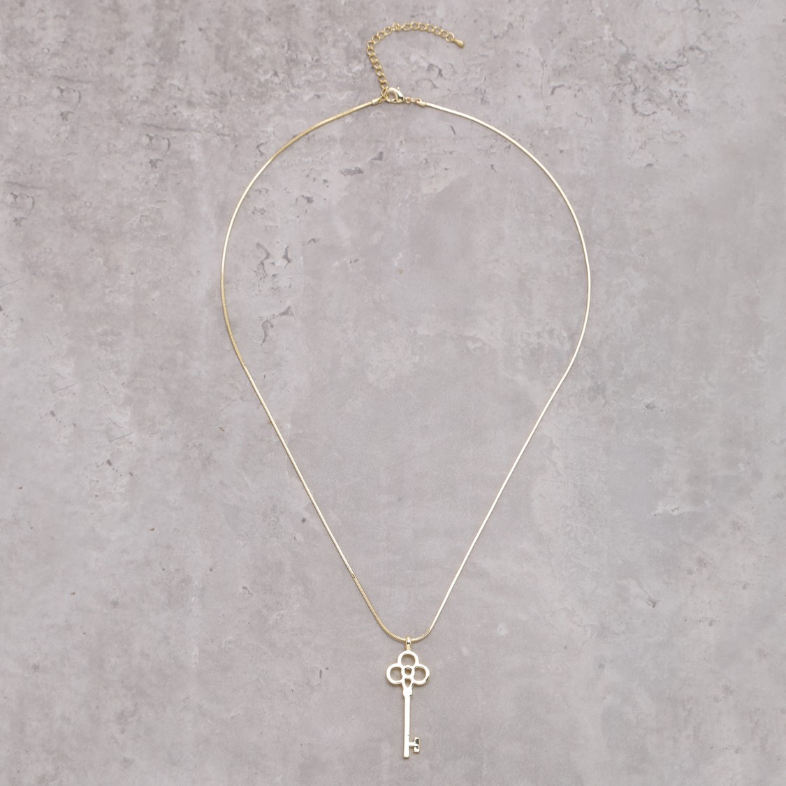 Key Necklace with Lobster Clasp