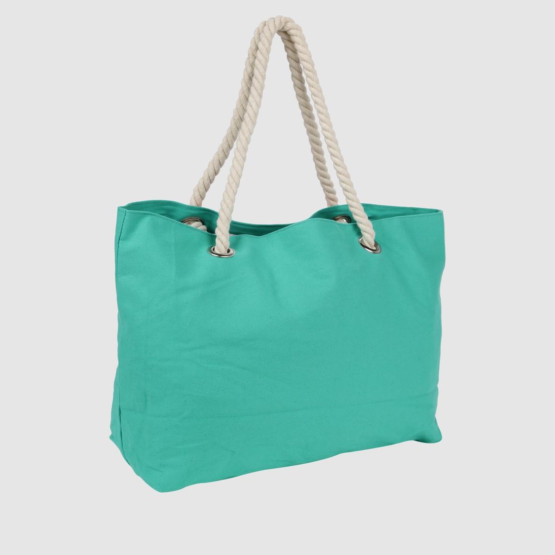 Printed Handbag with Dual Straps