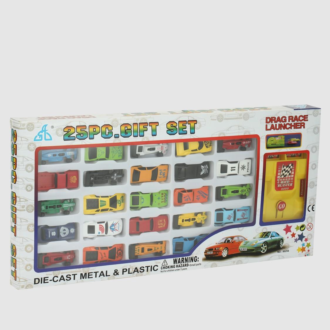 25-Piece Drag Race Launcher Car Set