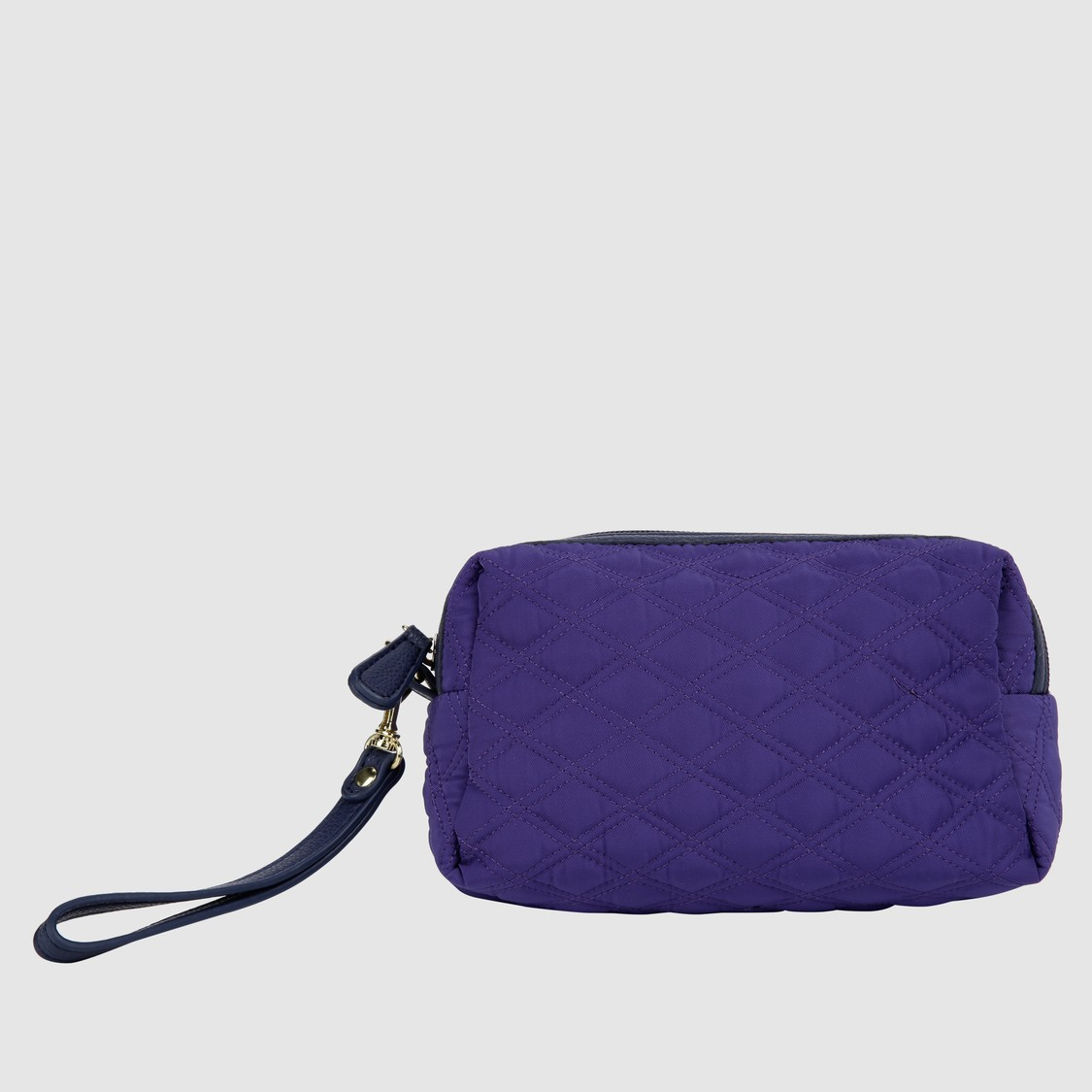Quilted Pouch with Zip Closure