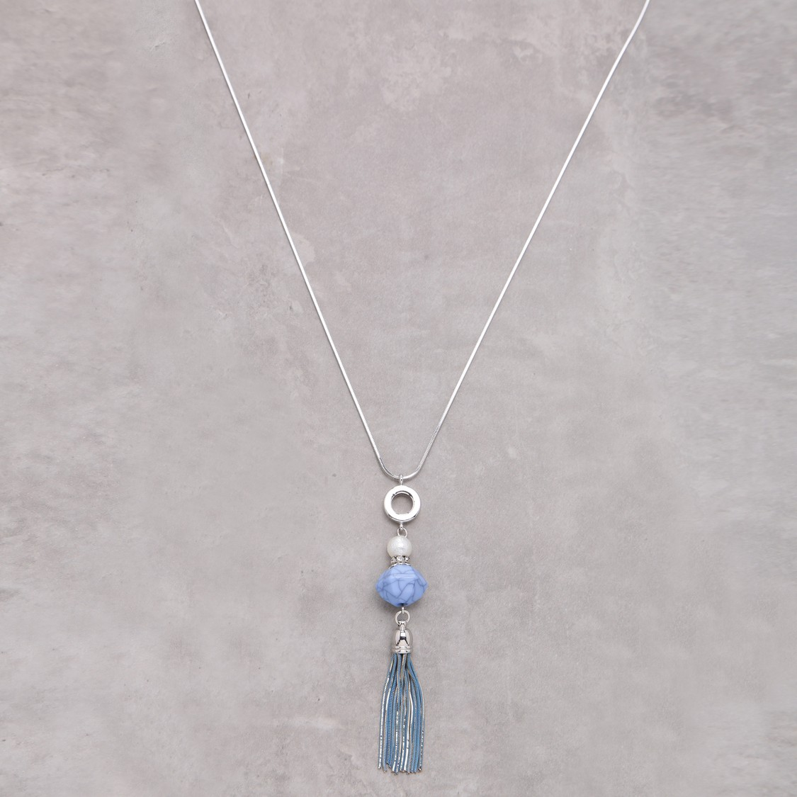 Long Pendant Necklace with Lobster Clasp