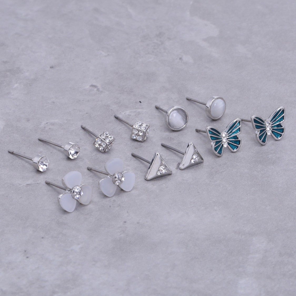 Assorted Earrings with Push Back Closure - Set of 6