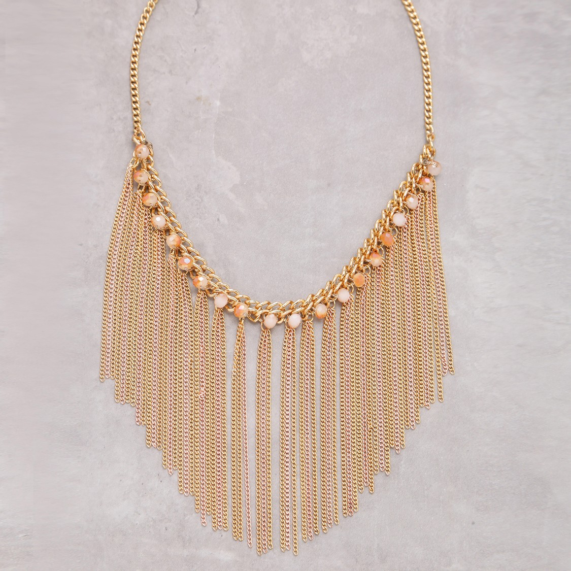 Tassel Detail Necklace with Lobster Clasp