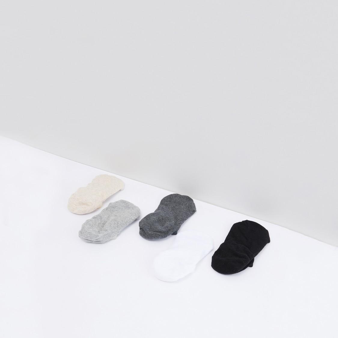 Set of 5 - Plain No Show Socks