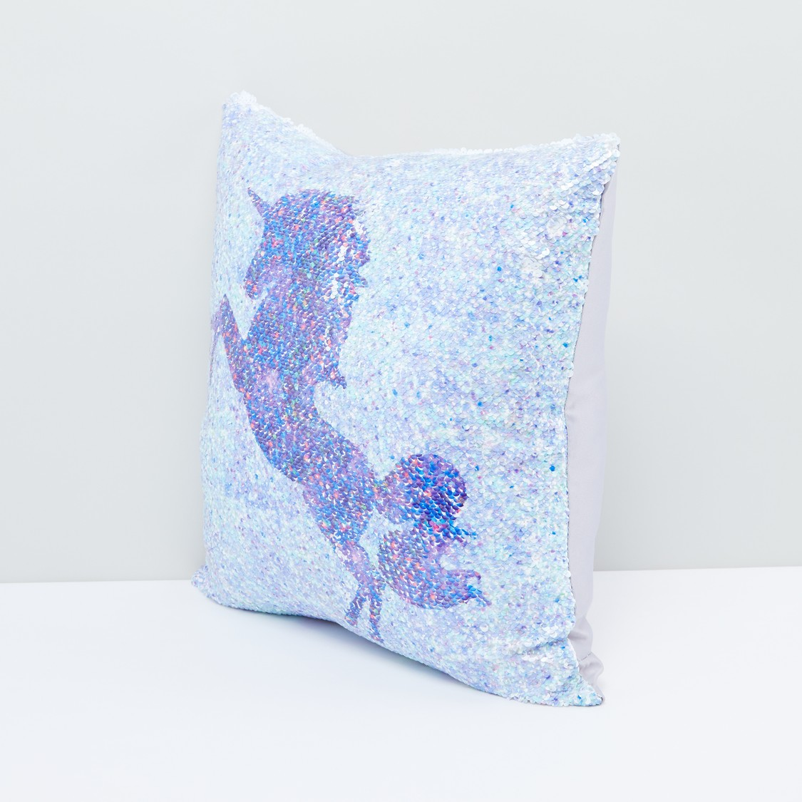 Sequin Detail Square Filled Cushion