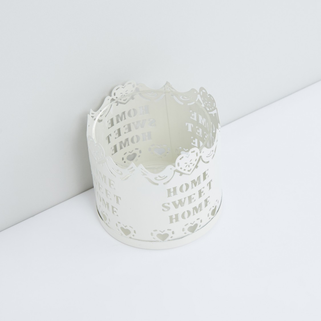 Cutout Detail Candle Holder