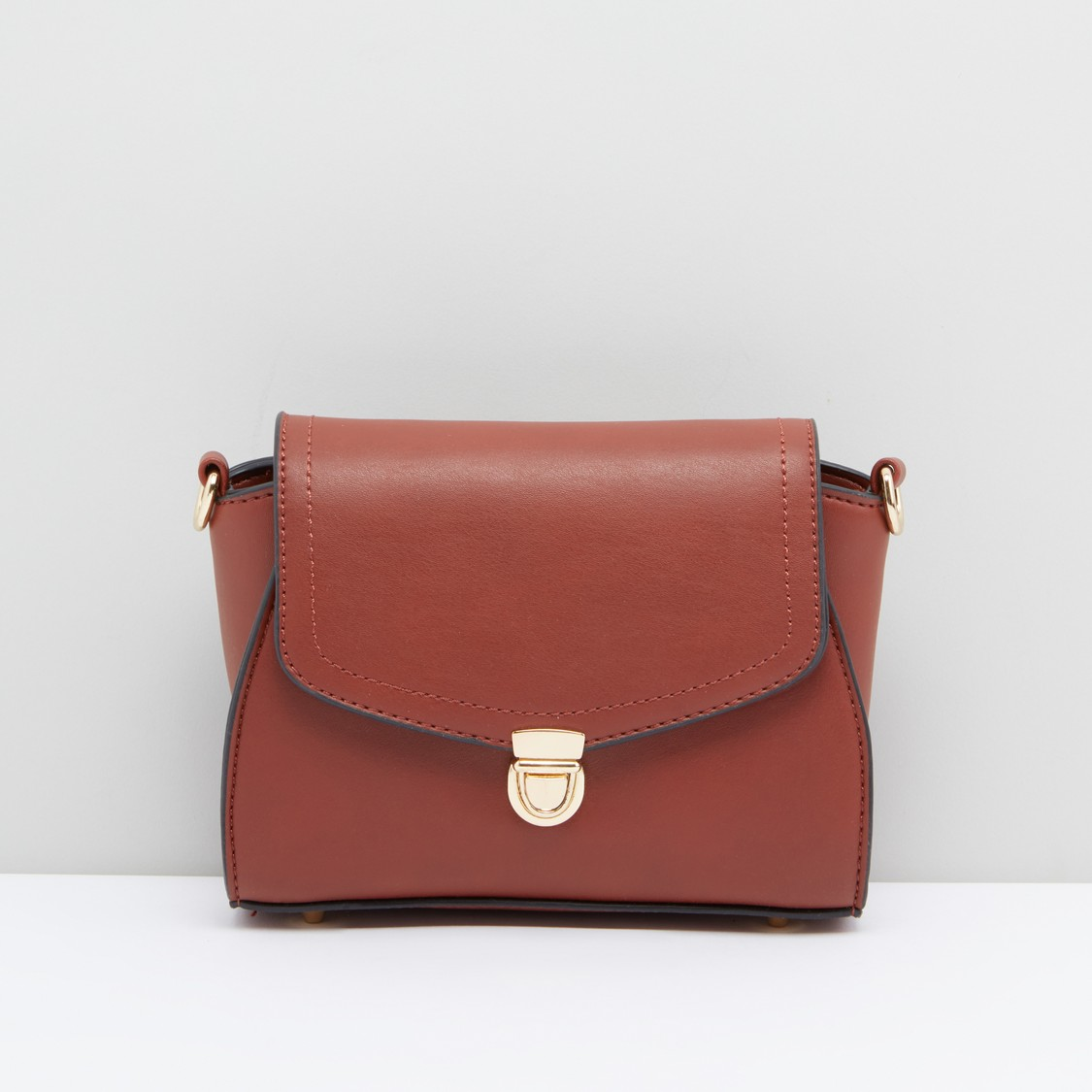 Satchel Bag with Tuck Clasp