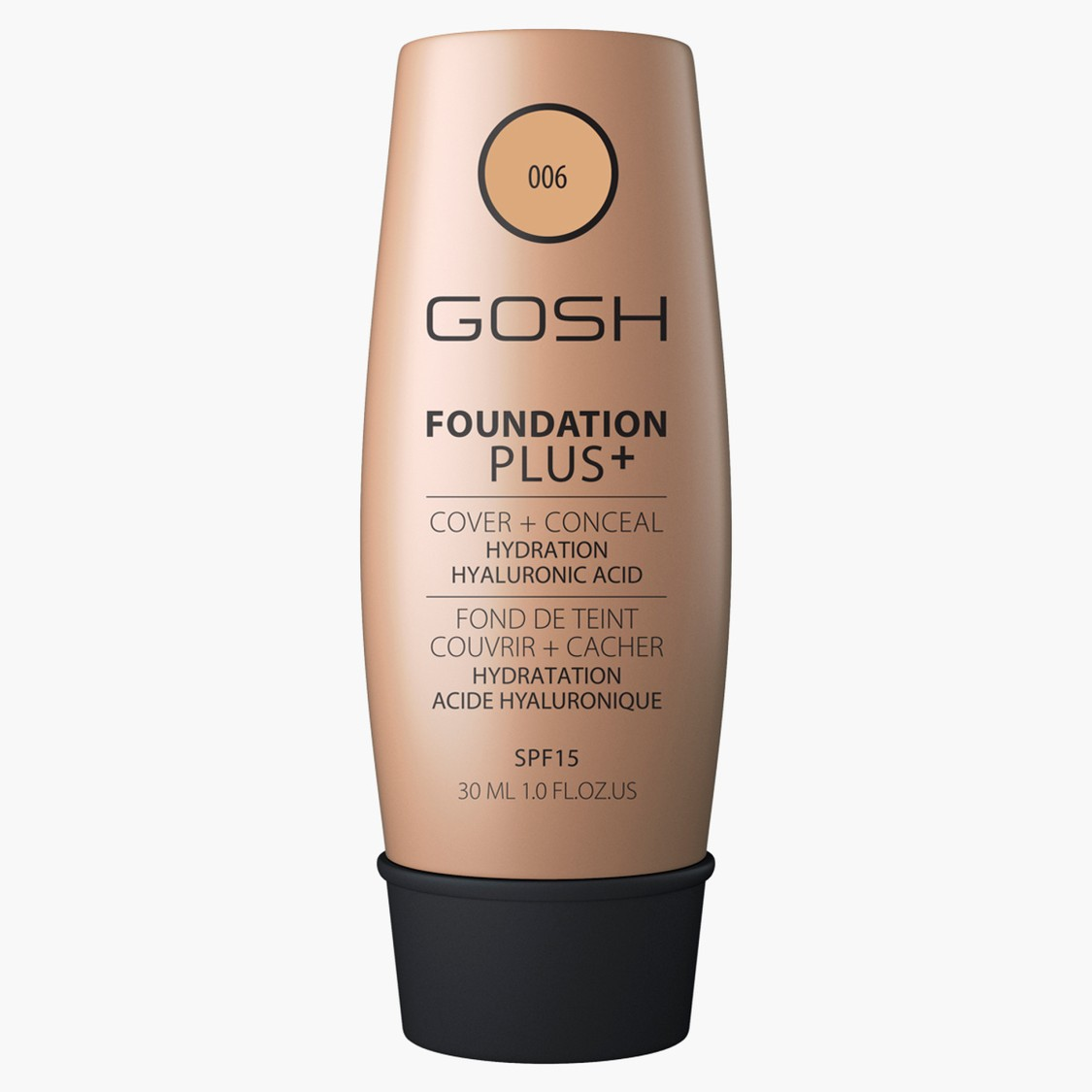 Gosh Foundation Plus with SPF 15 - 30 ml
