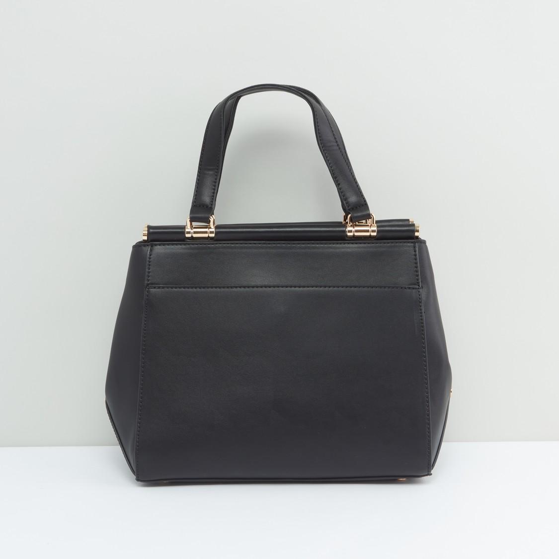 حقيبة يد سادة بمقابض حمّالة مزدوجة