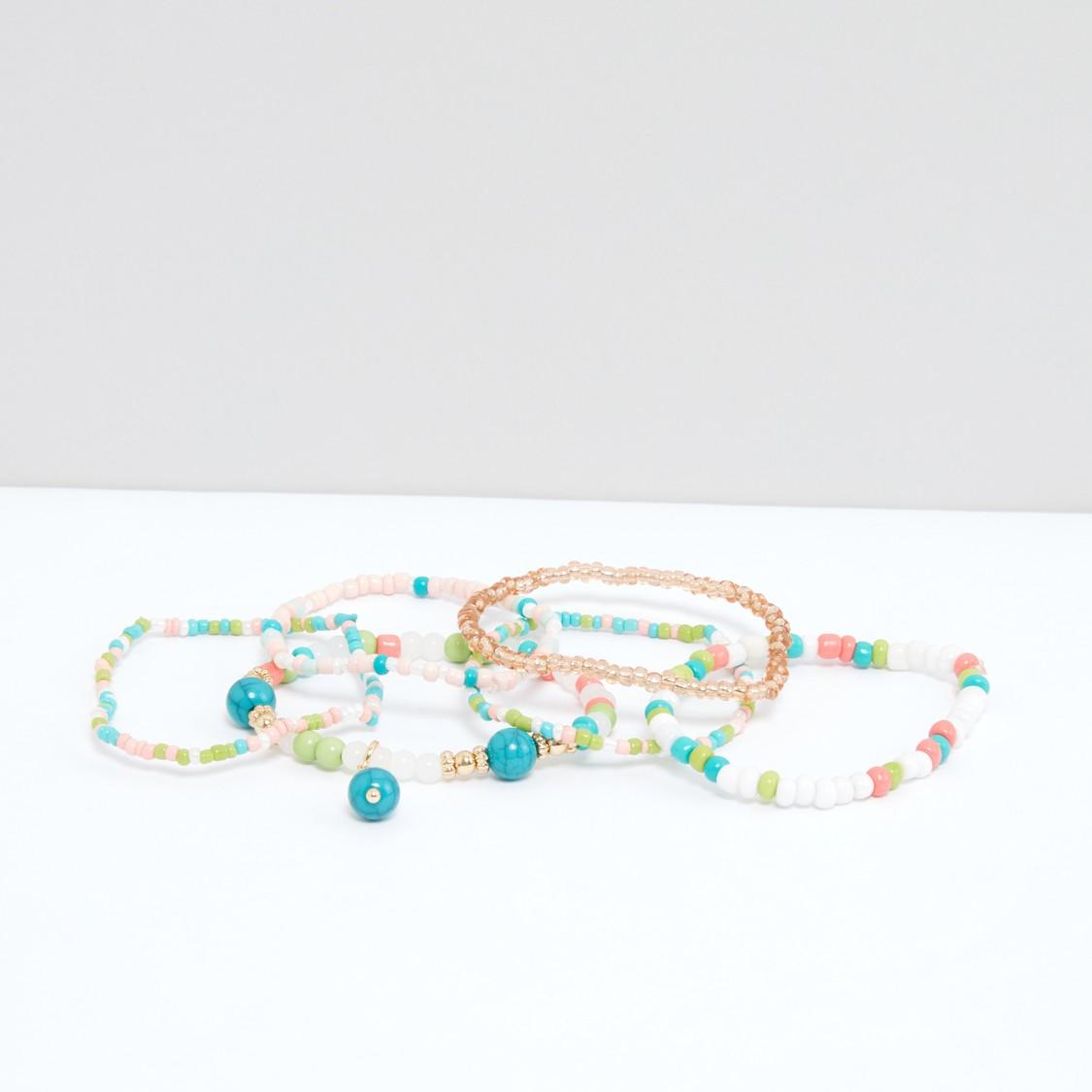 Beaded Bracelets - Set of 6