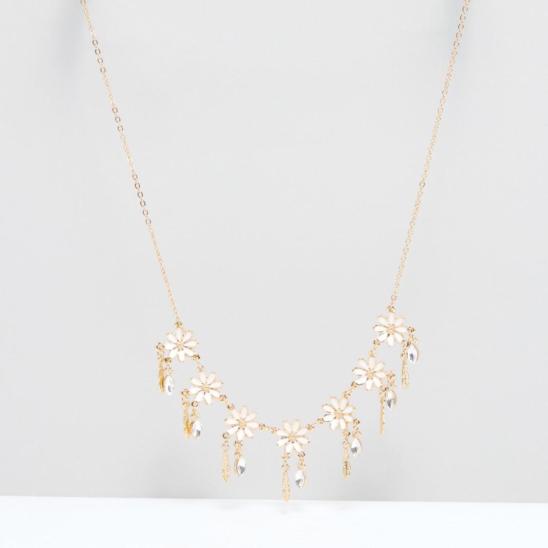 Floral Studded Necklace