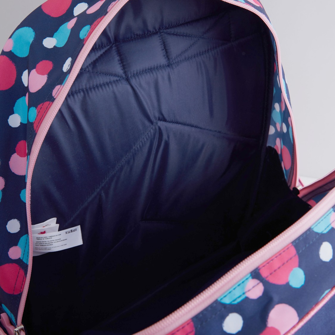 Minnie Mouse Printed Backpack with Zip Closure