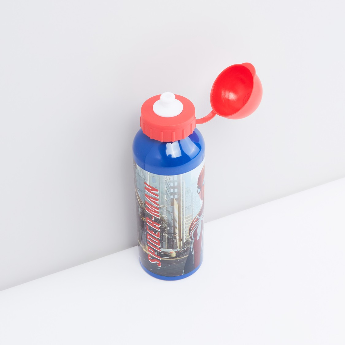 Metal Water Bottle with Attached Lid