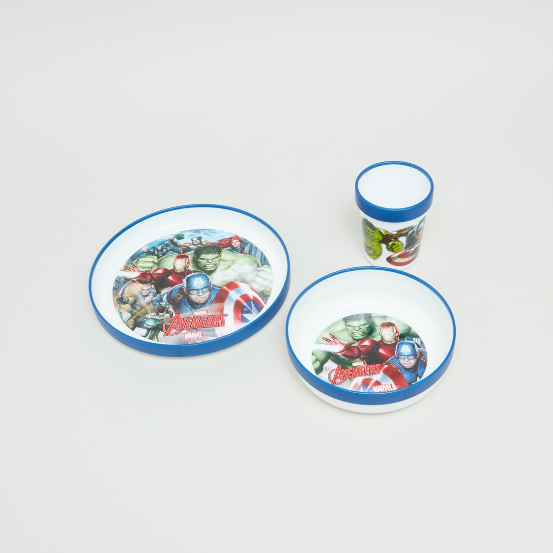Avengers Printed 3-Piece Meal Set - 20x7 cms