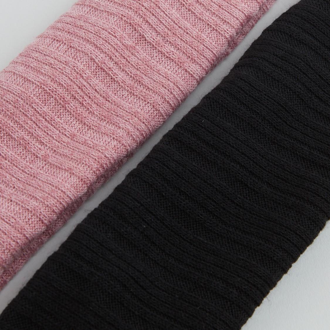 ربطة شعر بارزة الملمس - قطعتين
