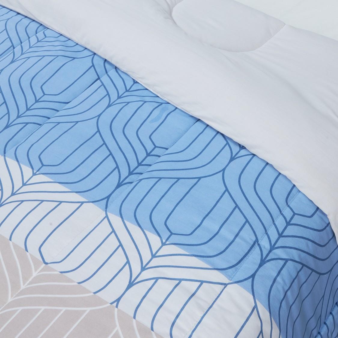 Printed Cotton 3-Piece Comforter Set - 220x230 cms