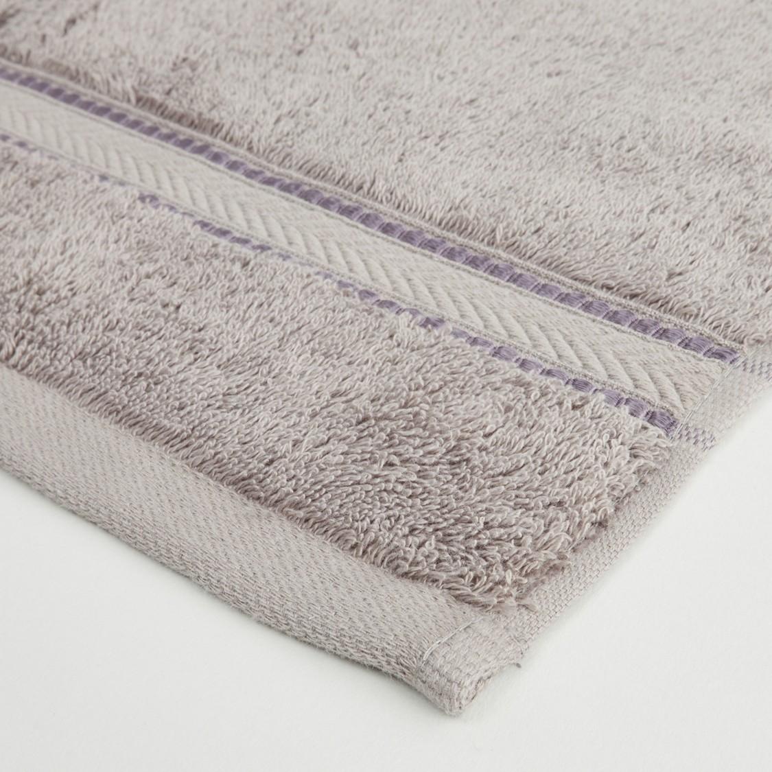 4-Piece Textured Egyptian Cotton Face Towel Set - 30x30 cms