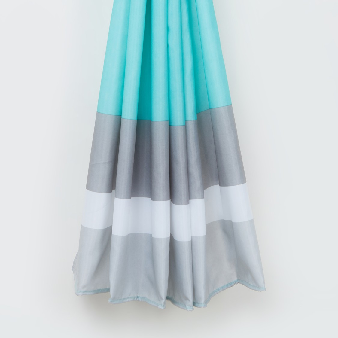 Striped Eyelet Shower Curtain - 180x180 cms