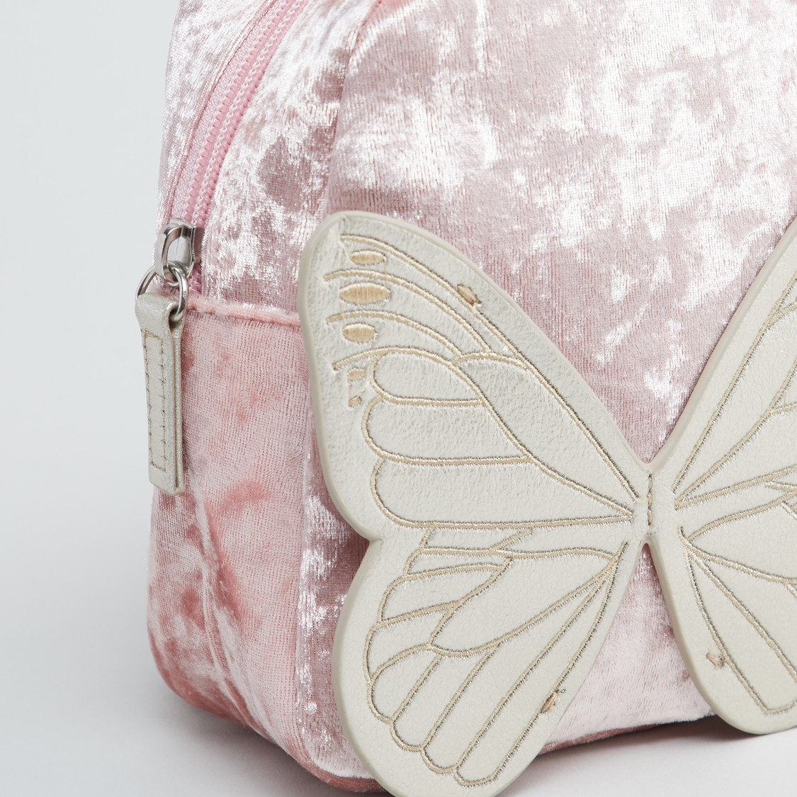 Butterfly Accented Backpack with Zip Closure