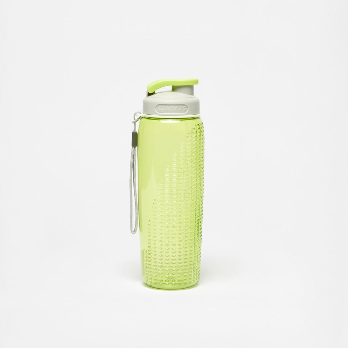 Textured Water Bottle with Flip Cap