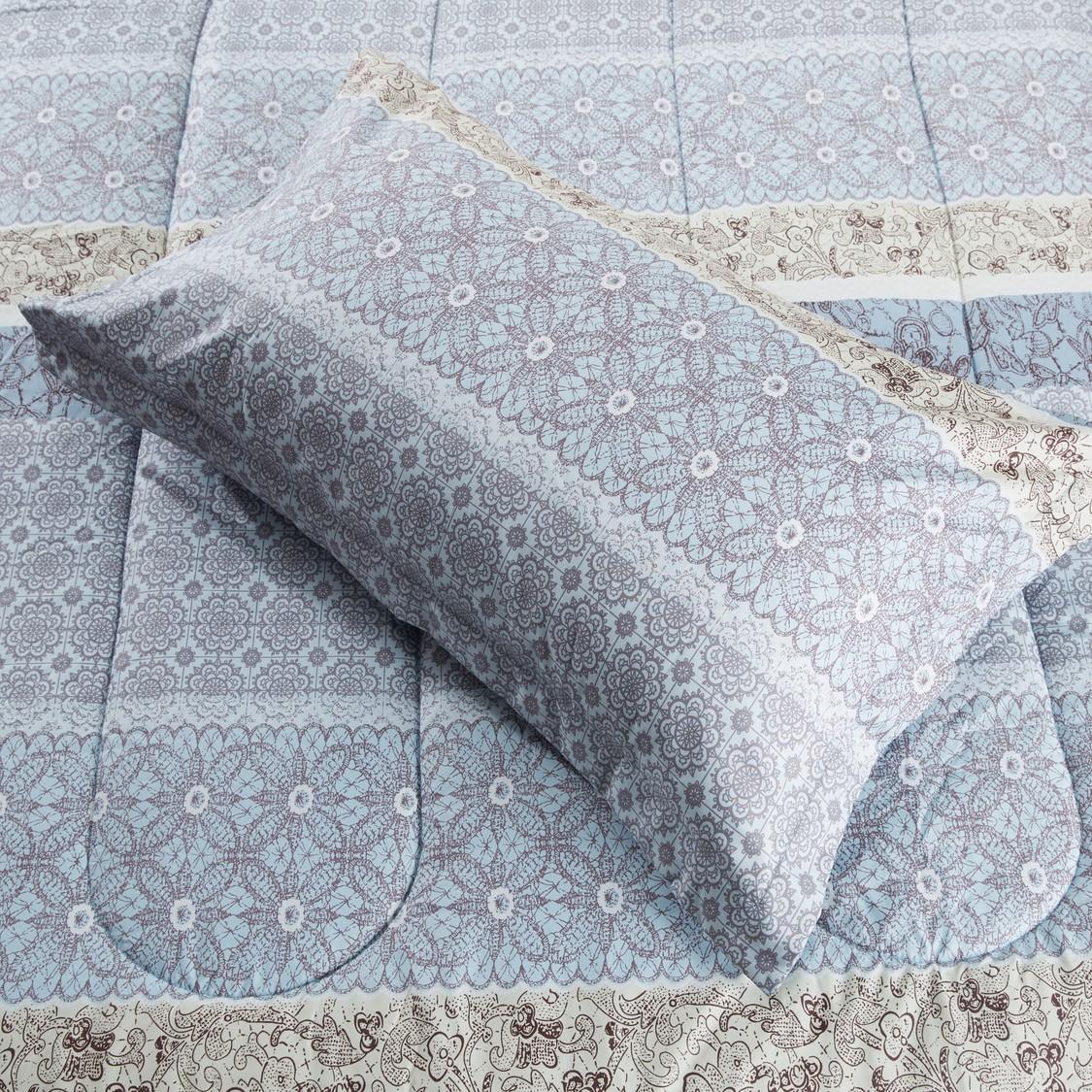 Printed Comforter and Pillowcase Set - 220x160 cms