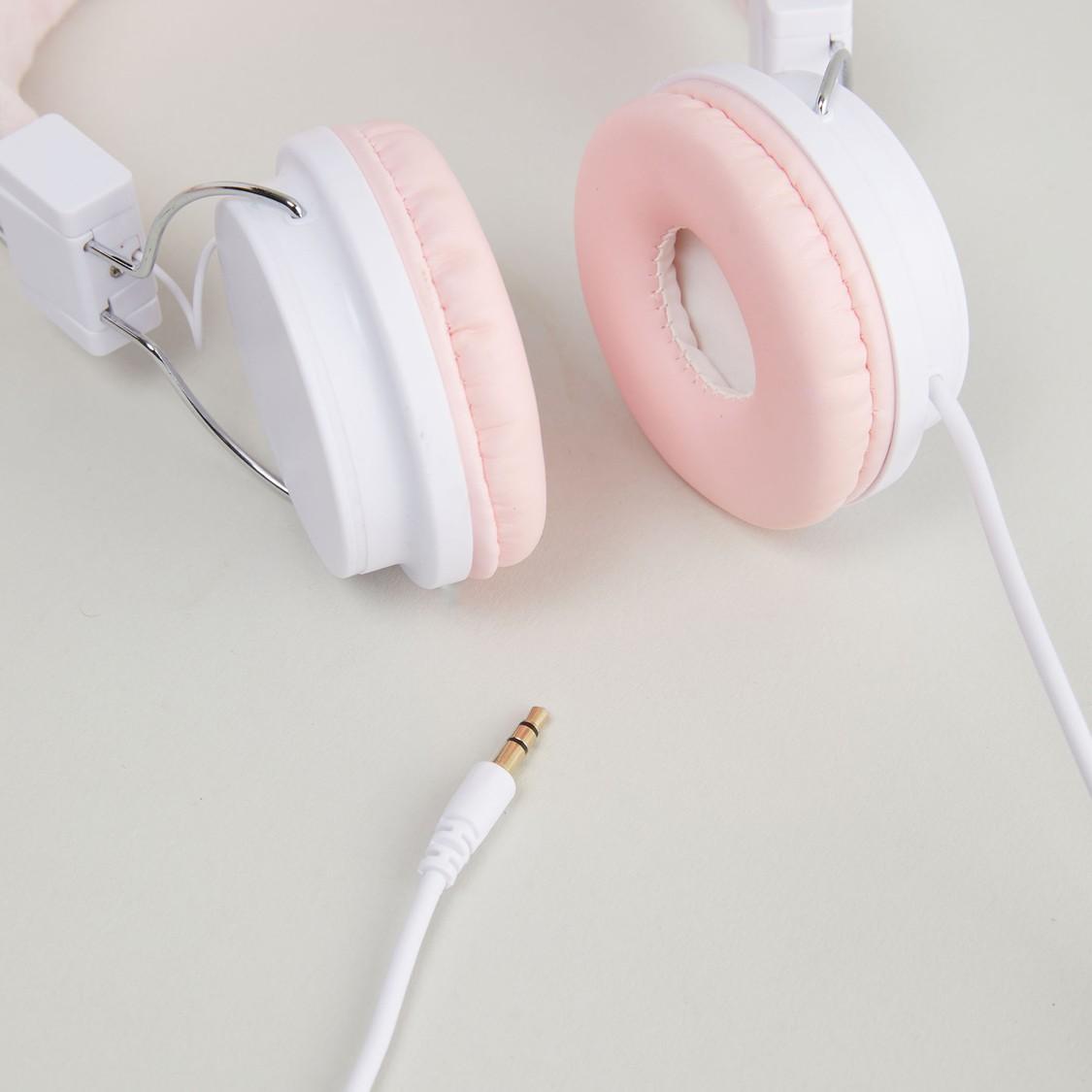 Headphones with Bunny Ear Applique