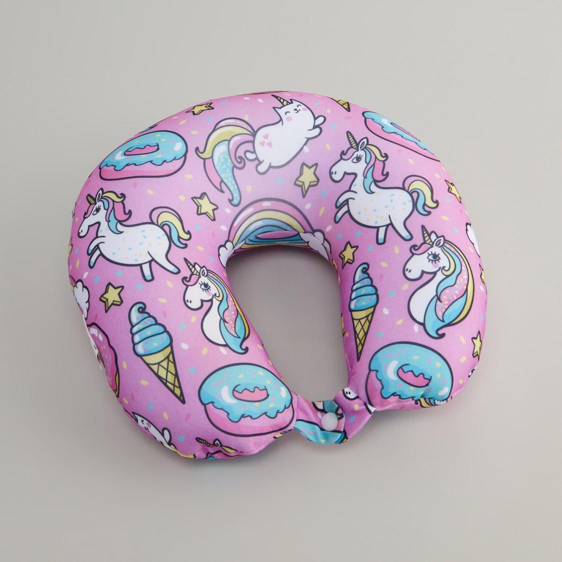 Unicorn Print Neck Pillow