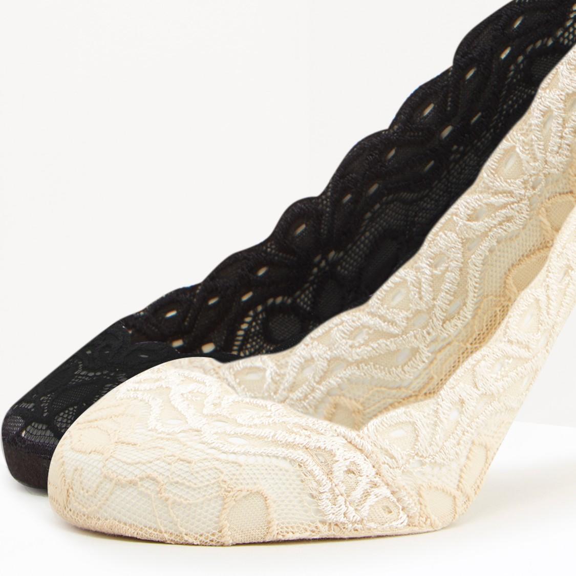 جوارب غير مرئية بارزة الملمس - طقم من زوجين