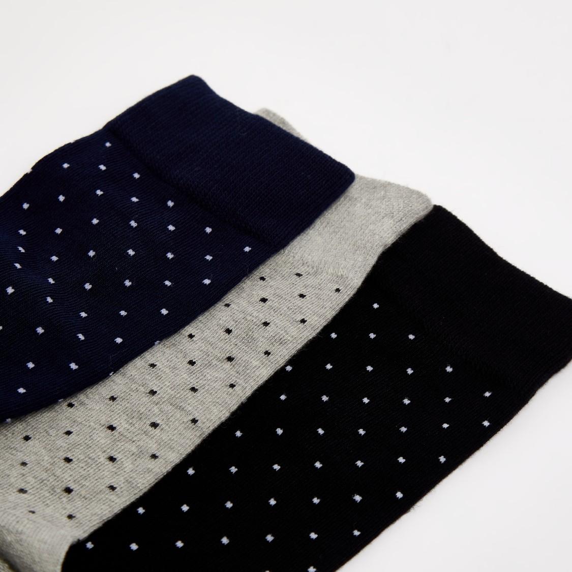 جوارب بطول كامل بطبعات - طقم من 3 أزواج