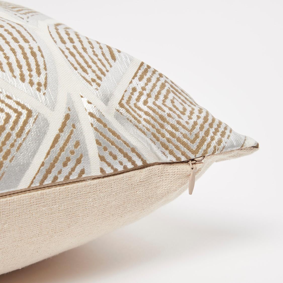 وسادة محشوة بطبعات رقائق معدنية - 45x45 سم