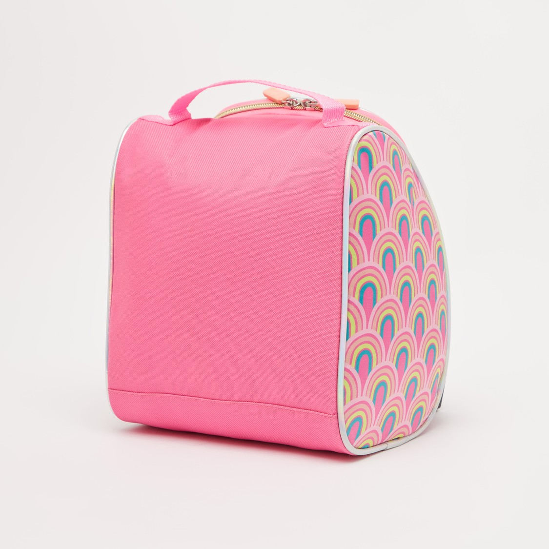 Printed Lunch Bag with Strap and Zip Closure