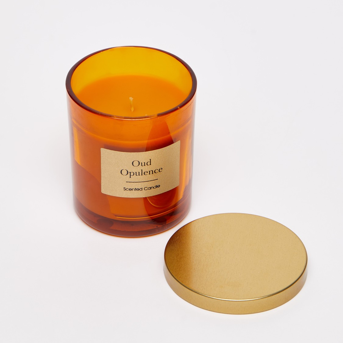 Oud Opulence Scented Jar Candle - 8x7 cms
