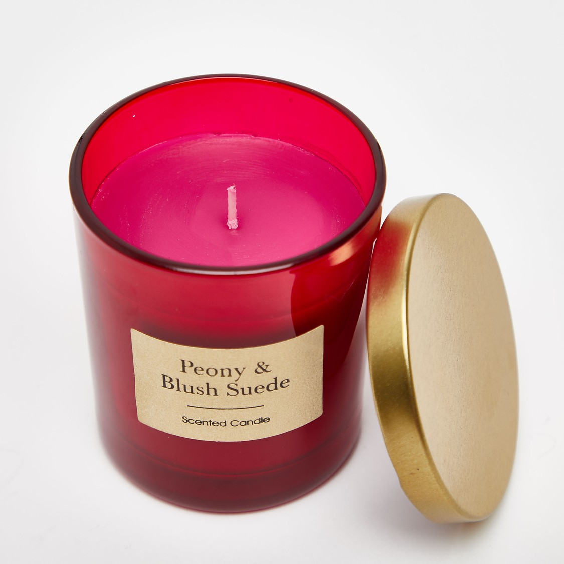 Peony and Blush Suede Scented Jar Candle