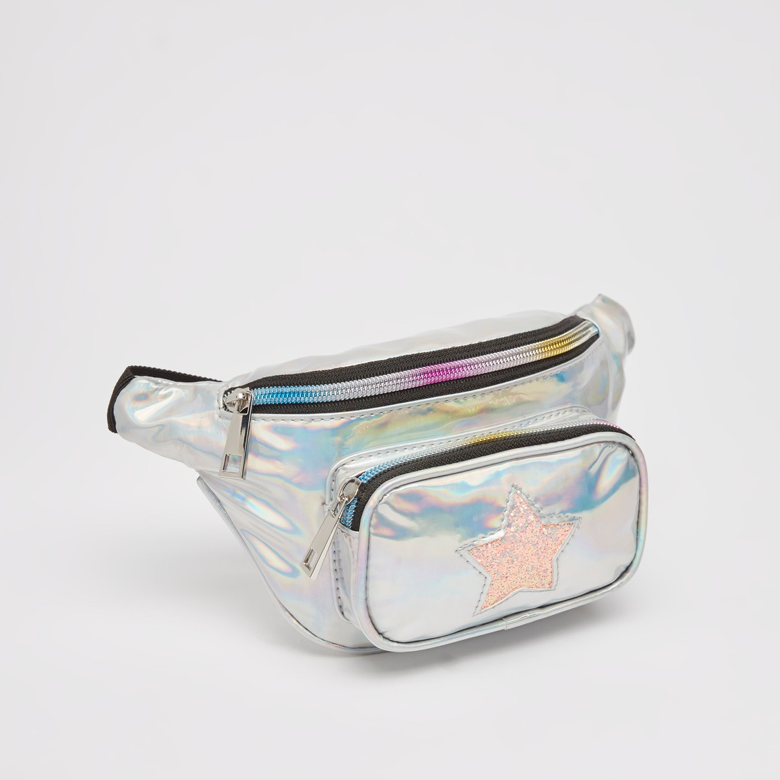 Sequin Detail Fanny Pack with Adjustable Strap and Zip Closure