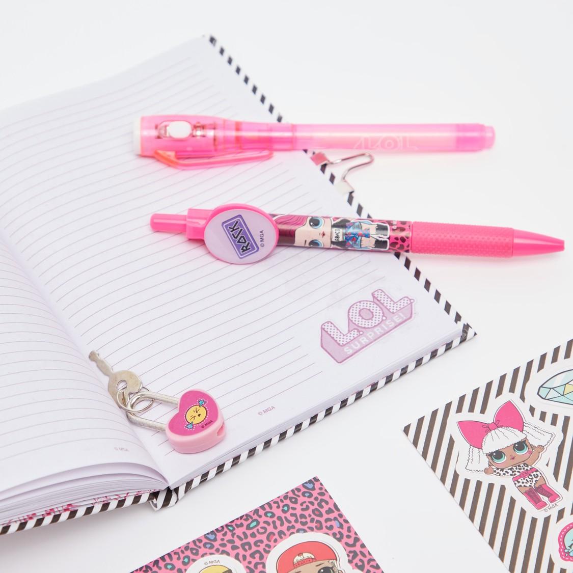 دفتر ملاحظات جليتر مع قلم ماجيك من لول سوربرايز