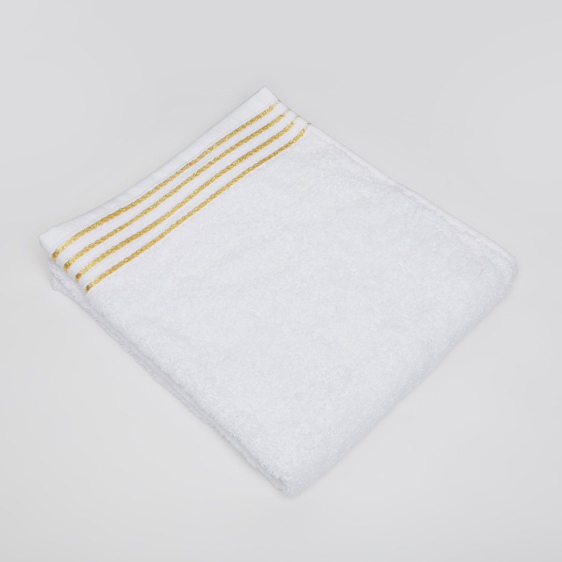 Textured Hand Towel with Glitter Stripes - 80x50 cms