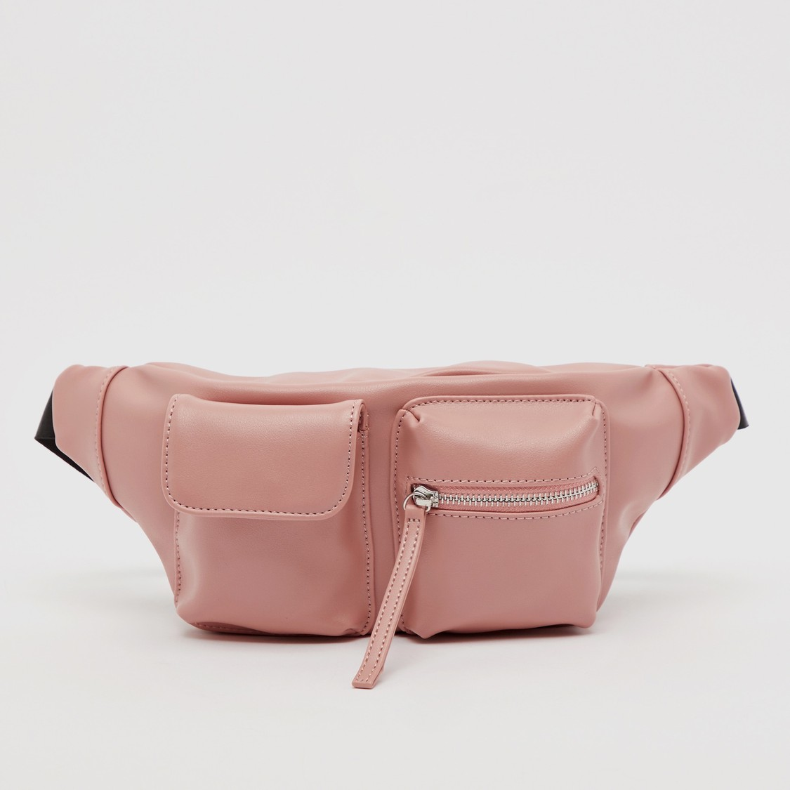 Solid Fanny Pack with Buckle Closure