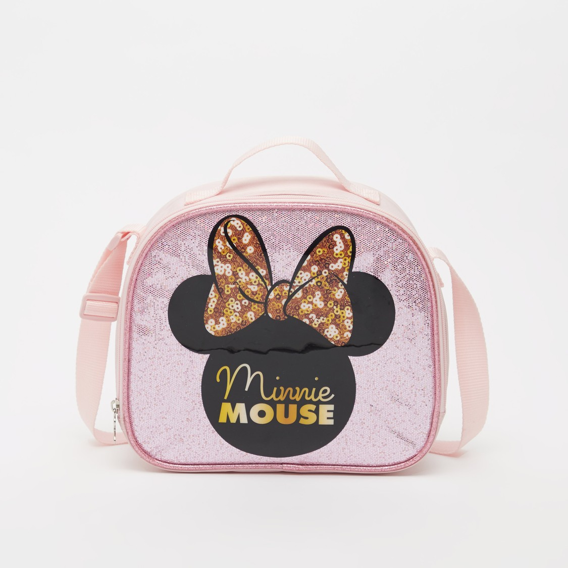 Minnie Mouse Sequin Detail Lunch Bag with Adjustable Strap