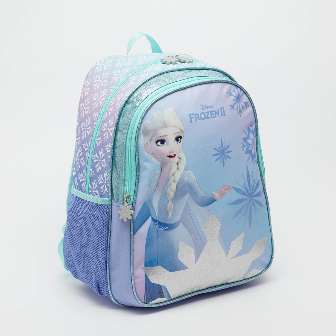 Elsa Print Backpack with Adjustable Shoulder Straps - 16 Inches