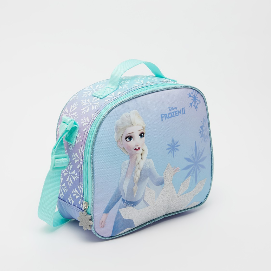 Elsa Print Lunch Bag with Adjustable Strap and Zip Closure